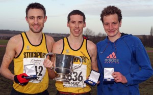 1st three home in senior men's championship left to right Patrick Martin, Andrew Davies and Alistair Brownlee