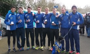 8 of the 12 (and a mascot) from the victorious Leeds City AC Northern Athletics 12 Stage Champions 2015