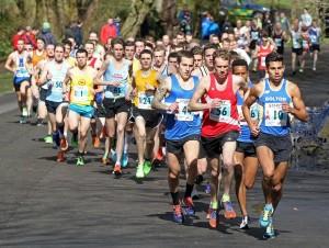 The men get underway at Sefton Park