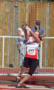 Olivia Simpson of the City of Hull beat the previous CBP three time during the under 17s hammer competition