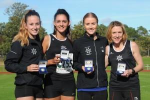 Rotherham Yorkshire Senior Women Road Relay Champions 2015 Natasha Hatswell, Mary Jenkinson, Samantha Johnson & Fiona Davies