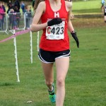 Tilly Simpson ran the fastest leg in the under 15 girls relay