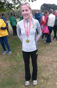 Ellie Vernon Stockport fastest leg at nation road relay at Sutton Park