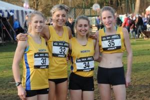 Claire Duck(33), Alex Bell(32), Amelia Pettitt(34), Sophie Cowper(35)