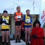 Under 15 Girls Medal winners, Faye Ireland , Olivia Mason, Ella McNiven with Blackburn MP Kate