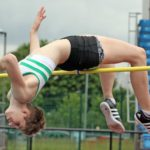 Abby Ward (Wakefield and District) wins the under-20s high jump.