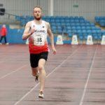 Alex Boyce (Liverpool Harriers) wiins senior mens 400 metres.