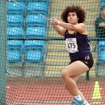 Maggie Okul (kingston upon Hull) wins the under-20s womens hammer.