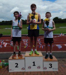 Stephen Waddington winner of Under 15s 3000m