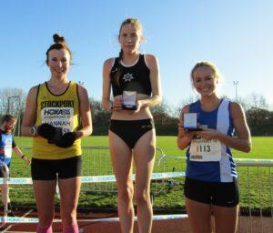 1st Sophie Cowper, 2nd: Hannah Griffiths, 3rd: Rachel Wood,
