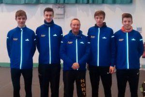 L, Joe Massingham (Rotherham), Hugo Milner (Derby) Rob Cameron (Team manager) Jonathan Shields (City of Sheffield & Dearne) & Nathan Baker (Middlesborough)
