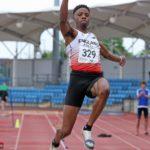 Reynold Banigo under 20s long jump winner