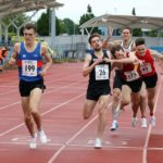 Matt Wigglesworth wins the charge to line in senior 1500m