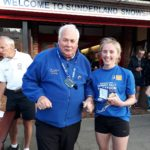 Rhiannon Silson 2nd in NA 2017 5k Road running Championship with past NA President Bill McGuirk