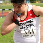 Jack Halpin (Gateshead Harriers) winner of the boys under-15s shot putt, Northern Under-17s/U-15s and U13s Champs, Leigh Sports Village, Leigh. Photo: David T. Hewitson/Sports for All Pics
