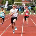 William Hughes (Nene Valley) wins the mens under-17s 200 metres, Northern Under-17s/U-15s and U13s Champs, Leigh Sports Village, Leigh. Photo: David T. Hewitson/Sports for All Pics