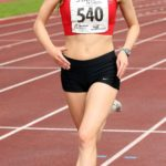 Tilly Simpson (Hallamshire Harriers) on her way to victory in the womens under-17s 1500 metres, Northern Under-17s/U-15s and U13s Champs, Leigh Sports Village, Leigh. Photo: David T. Hewitson/Sports for All Pics