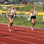 Natasha Harrison (Stockport Harriers) winner of the womens under-17s during the heats of the 300 metres, Northern Under-17s/U-15s and U13s Champs, Leigh Sports Village, Leigh. Photo: David T. Hewitson/Sports for All Pics