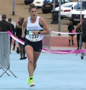 Laura Riches takes Leigh into the lead