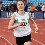 Lauren Howarth brings Leigh Harriers and AC home to victory in the senior womens 4 stage relay, Northern Senior 6 and 4 and Junior Stage Road Relays, SportsCity, Manchester. Photo: David T. Hewitson/Sports for All Pics