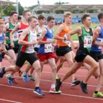 Start of the under-17 mens 3 stage relay, Northern Senior 6 and 4 and Junior Stage Road Relays, SportsCity, Manchester. Photo: David T. Hewitson/Sports for All Pics