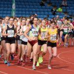 Start of the senior women4 stage relay