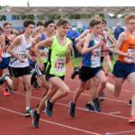 Start of the under-15 boys 3 stage relay