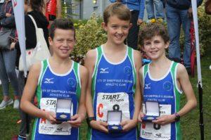 Sheffield U/13 road relay champs 2017