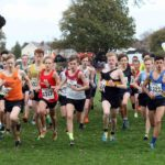 Start of the boys under-15s Northern Cross Country Relays