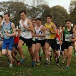 Start of the under-17 mens Northern Cross Country Relays.