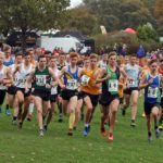 Start of the senior mens Northern Cross Country Relays