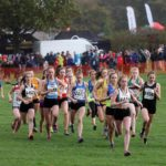 Start of the under-17 womens northern Cross Country Relays
