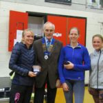Winning Women's team Jarrow with NA President Kevin Carr