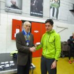 3rd man Marc Brown of Salford Harriers with Kevin Carr