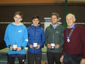 Winning men's team Preston Harriers with NA President Kevin Carr