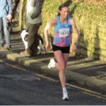 Laura Weightman of Morpeth Harriers approaches the finish