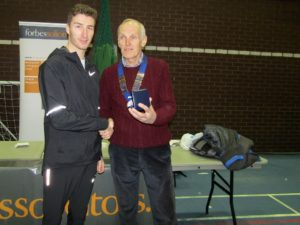 Marc Scott Richmond & Zetland, NA 10k road running champion for 2017 with NA President Kevin Carr