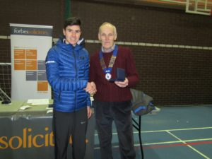 3rd Man Patrick Dever of Preston Harriers with NA President Kevin Carr