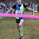 Holly Weedall (Vale Royal) wins the girls under-13s 2018 Northern Cross Country Champs., Harewood House, Leeds. Photo: David T. Hewitson/Sports for All Pics
