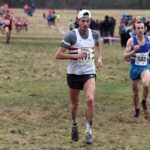 Matthew Bowser (Lincoln Wellington) leads Carl Avery (Morpeth Harriers) during the senior mens 2018 Northern Cross Country Champs., Harewood House, Leeds. Photo: David T. Hewitson/Sports for All Pics
