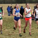 446 Georgia Taylor-Brown (Sale Harriers Manchester), Mhairi Maclennan (Morpeth Harriers), Lauren Howarth (Leigh Harriers) and Abbie Donnelly (Lincoln Wellington) leadrs of the senior womens 2018 Northern Cross Country Champs., Harewood House, Leeds. Photo: David T. Hewitson/Sports for All Pics