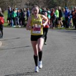 Jessica Cook (Liverpool Harriers) wins the womens under-17s Northern Athletics 5k Champs., Birkenhead Park. Photo: David T. Hewitson/Sports for All Pics