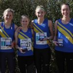 Leed City AC winners of the womens 6 stage relqy Northern 6 Stage Road Relay Champs., Birkenhead Park. Photo: David T. Hewitson/Sports for All Pics