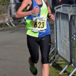 Megan Dingle (Vale Royal AC) wins the girls under-15s Northern Athletics 5k Champs., Birkenhead Park. Photo: David T. Hewitson/Sports for All Pics