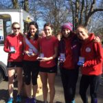 Salford women , bronze medal winner Northern Athletics 6 stage road relay championships 2018