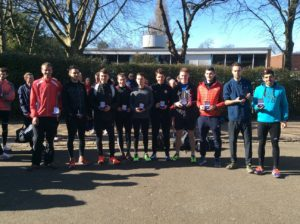 Salford, bronze medal winner Northern Athletics 12 stage road relay championships 2018