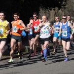 Start of the mens 12 stage relay Northern 12 Stage Road Relay Champs., Birkenhead Park. Photo: David T. Hewitson/Sports for All Pics