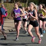 Start of the womens under-17s Northern Athletics 5k Champs., Birkenhead Park. Photo: David T. Hewitson/Sports for All Pics