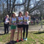Wirral AC team silver medals in the girls under 15s championship