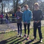 1st: Xavier O'Hare, Trafford, 2nd: Alexander Hoyle, Vale Royal, 3rd: Rocco Zaman-Browne, Manchester Harriers